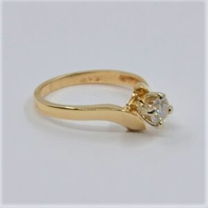 14k diamond solitaire