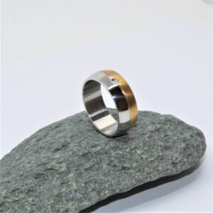 stainless steel two tone ring