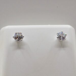 sterling silver cubic studs