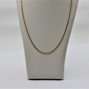 10k pink gold chain